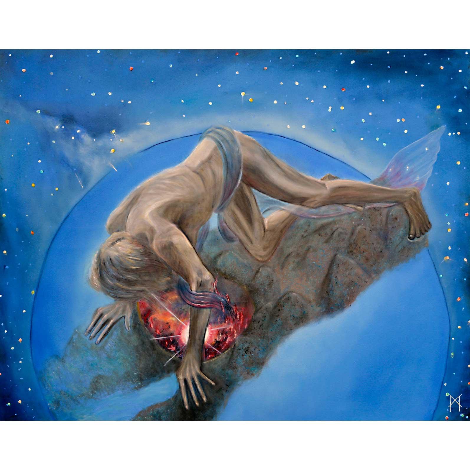 Margaretha Gubernale Fire of God 80 cm x 100 cm oil on canvas 2016